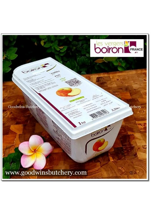 Fruit frozen puree Boiron France 1kg PECHE BLANCHE WHITE PEACH