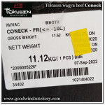 Beef rib CONECK wagyu Tokusen for soup, beef stock or pet's food (price/slab 750gr)