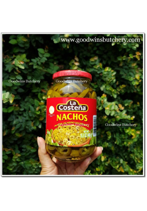 Pickle Mexico La Costena LaCostena NACHOS PICKLED JALAPENO SLICES 440gr 15.5oz