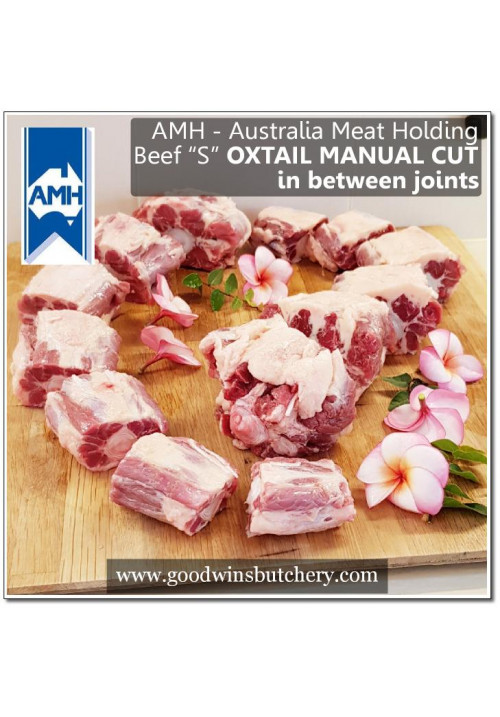 "Beef Oxtail ""S"" manual knife cut in between joints chilled - Australia Imported AMH w/ utube video"