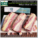 "Beef Cuberoll Ribeye ""A"" BUDGET / CHEAP LOIN BEEF Australia CAG frozen 1/3 CUT apx 1.2kg, please read description!"
