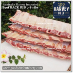 Beef rib BACK RIB Australia Harvey 7-8 ribs 1.3-1.8 kg (price/kg)