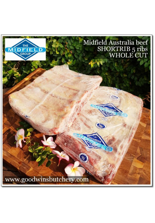 Beef ribs SHORT RIB 4-5 ribs WHOLE CUT Midfield Australia apx 2kg