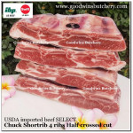 Beef rib shortrib chuck 4ribs USDA select Swift half crossed cut apx a kilo (price/kg)
