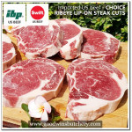 Beef Cuberoll Ribeye lip-on US CHOICE frozen WHOLE CUT @8kg IBP (equals to wagyu beef mbs 4-5)