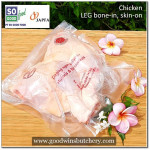 Chicken raw LEG BONE-IN SKIN-ON SoGood Food (price/kg) (Sorry out of stock)