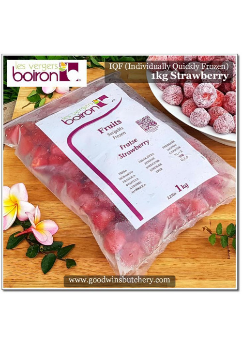 Fruit frozen IQF (Individual Quickly Frozen) Boiron France 1kg FRAISE STRAWBERRY (Sorry Importer Has No Stock)