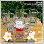 Mexico-Libbey glass HEAVY BEER GLASS 900gr, 10oz 296ml