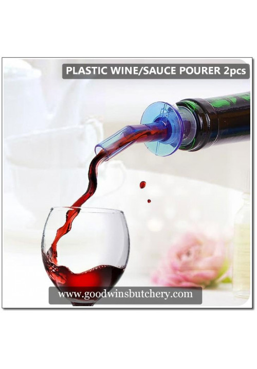 Wine / Sauce plastic bottle pourer-stopper 2pcs
