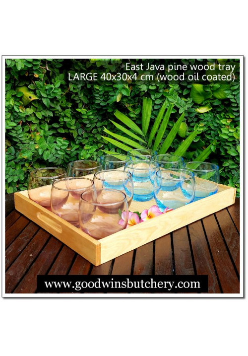 Wooden TRAY LARGE East Java pine wood