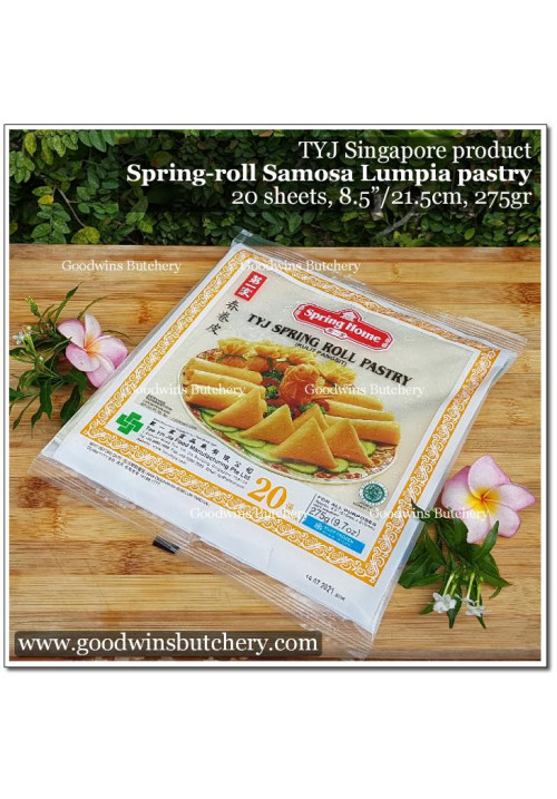 "Pastry SPRING ROLL SKIN / SAMOSA / KULIT LUMPIA frozen 8.5"" 21.5cm 20sheets 275gr - TYJ Spring Home Singapore"