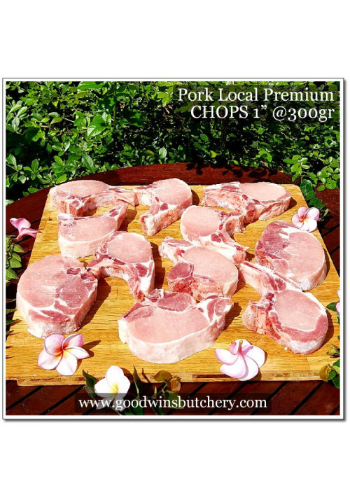 "Pork chop 1"" (2.5cm) babi chop - Local Premium"