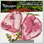 Beef CHUCK TENDER Tokusen wagyu marbling 4-5 whole-cut chilled