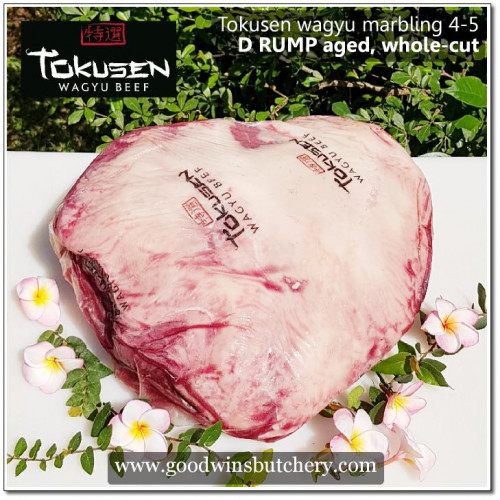 Beef D RUMP wagyu Tokusen marbling 4-5 aged chilled whole-cut UNDER AGED