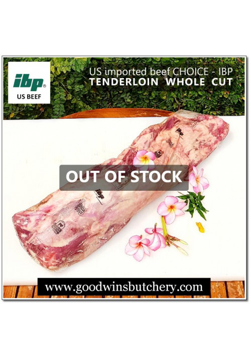 Beef eye fillet / tenderloin / has dalam - US choice IBP / Swift - WHOLE CUT (equals to wagyu beef mbs 4-5) IMPORTER HAS NO STOCK