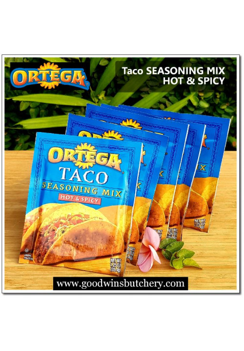 Seasoning TACO mix hot & spicy 1.25oz 35.4gr Ortega USA - exp Jan 16 2021