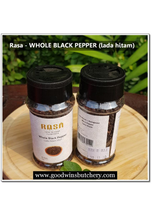 BLACK PEPPER WHOLE (lada hitam) 50gr brand-RASA - exp 20.12.2020